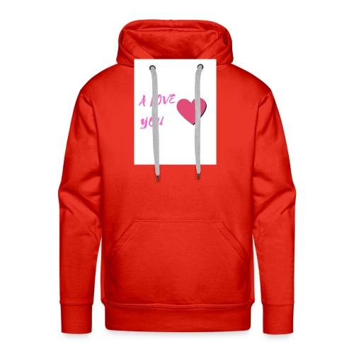 A LOVE YOU ROSE - Sweat-shirt à capuche Premium pour hommes