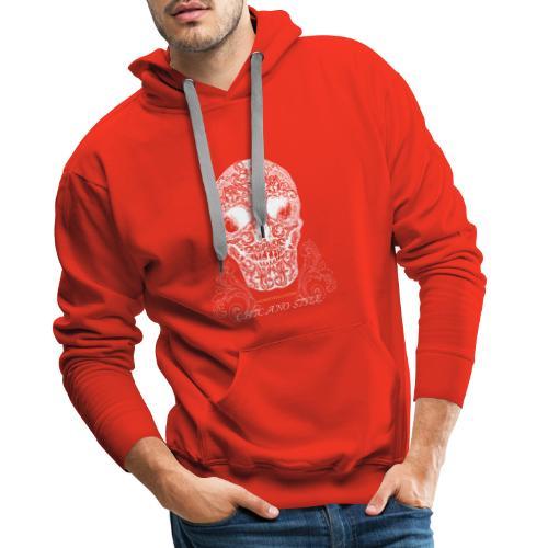 Chicano Style , Skull Mexiko Totenkopf Bobber - Männer Premium Hoodie