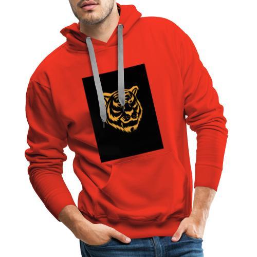gold tiger - Sudadera con capucha premium para hombre