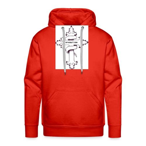 nyknation cross - Sweat-shirt à capuche Premium pour hommes