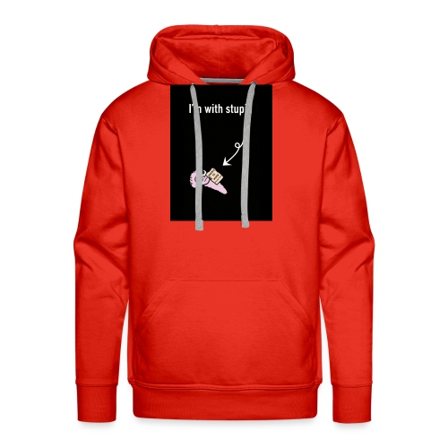 I'm with stupid - Men's Premium Hoodie