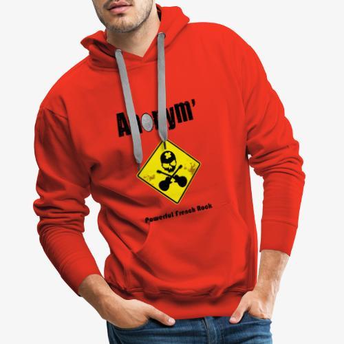 Logo Anonym' noir avec panneau jaune - Sweat-shirt à capuche Premium pour hommes