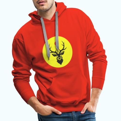 Hipster deer - Men's Premium Hoodie