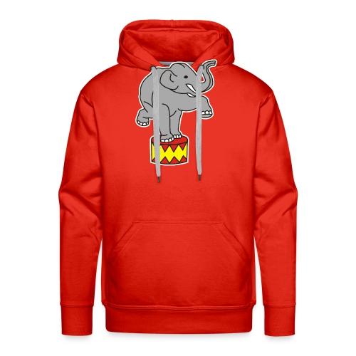 Zoo Zirkus Elefanten Circus Elephants Retro Comic - Männer Premium Hoodie