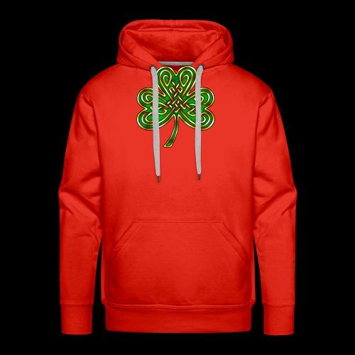 Celtic Knotwork Shamrock - Men's Premium Hoodie