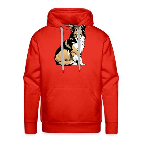 Collie hund - Premiumluvtröja herr