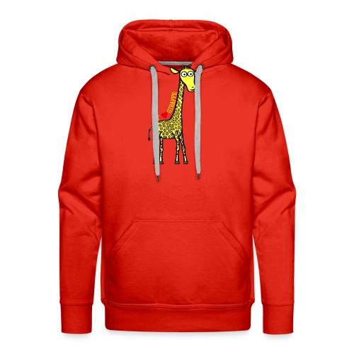 Kocham żyrafę - Żółty napis - Bluza męska Premium z kapturem