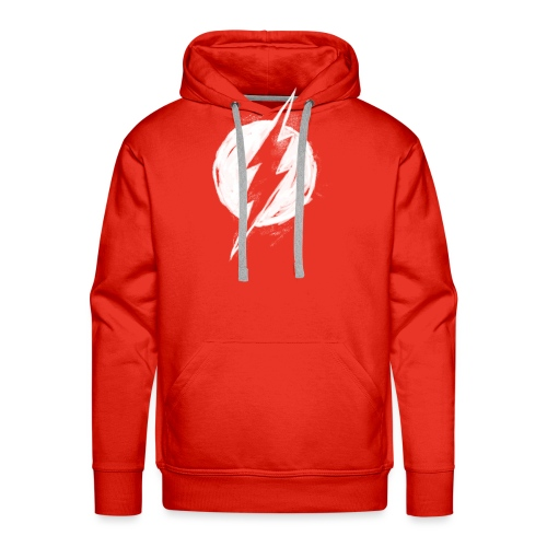 Justice League Flash Logo white - Männer Premium Hoodie