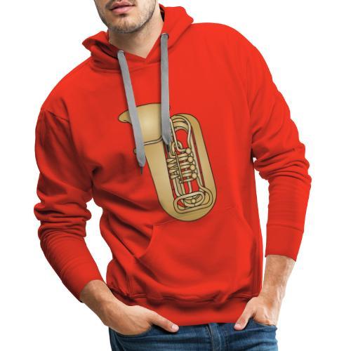 TUBA Blechblasinstrument - Männer Premium Hoodie