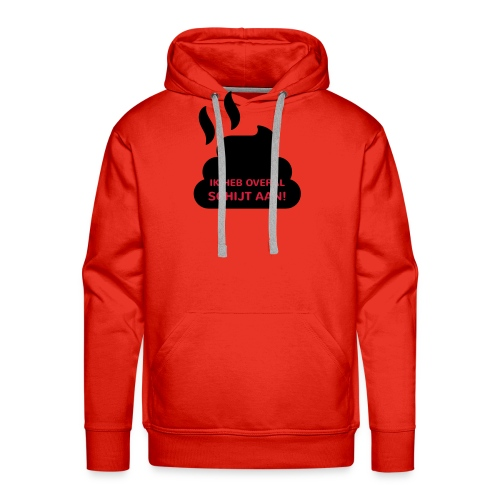 Grappige Rompertjes: Ik heb overal schijt aan - Mannen Premium hoodie