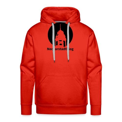Logo mit Schriftzug invertiert (Alternative Farben - Männer Premium Hoodie