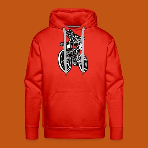 BMX / Mountain Biker 04_schwarz weiß - Männer Premium Hoodie