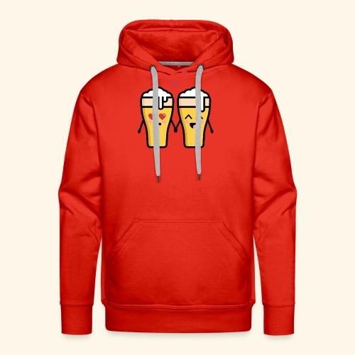 Beer love kawaii - Sweat-shirt à capuche Premium pour hommes