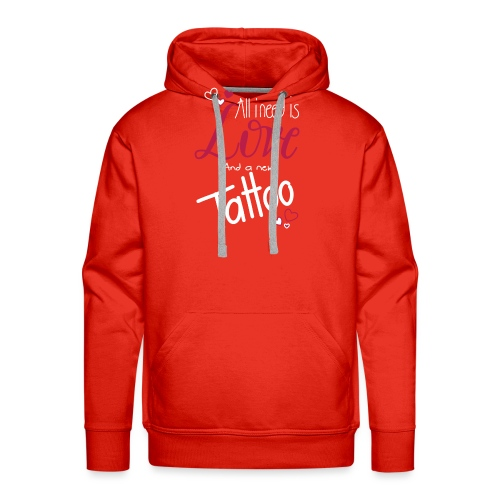 all i need is... (weiss) - Männer Premium Hoodie