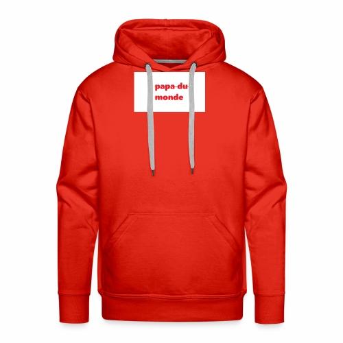 meilleur papa du monde - Sweat-shirt à capuche Premium pour hommes