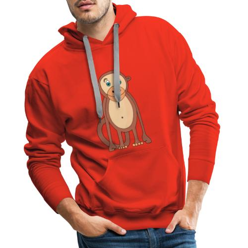 Bobo le singe - Sweat-shirt à capuche Premium pour hommes