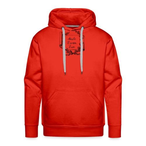 mug humour smile dream live - Sweat-shirt à capuche Premium pour hommes