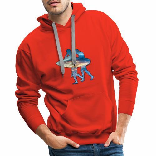 Les surfeurs ! - Sweat-shirt à capuche Premium pour hommes