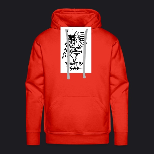 DONT BE SAD pic black - Männer Premium Hoodie