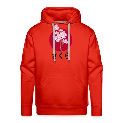 Sakura - Flower - Japan - Sweat-shirt à capuche Premium pour hommes