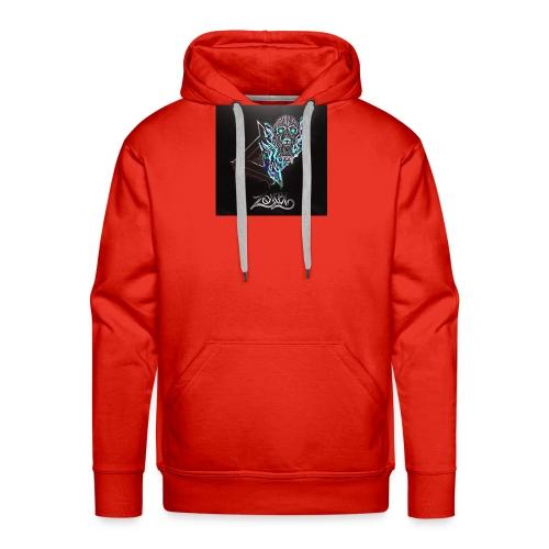 Space Zombii shirt logo design. - Sudadera con capucha premium para hombre