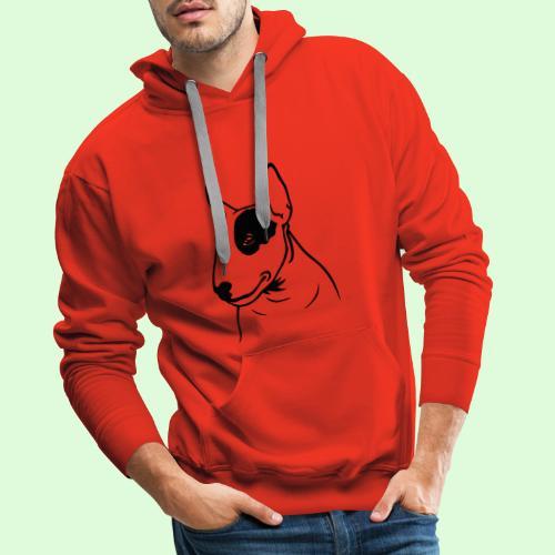Tête de Bull Terrier - Sweat-shirt à capuche Premium pour hommes