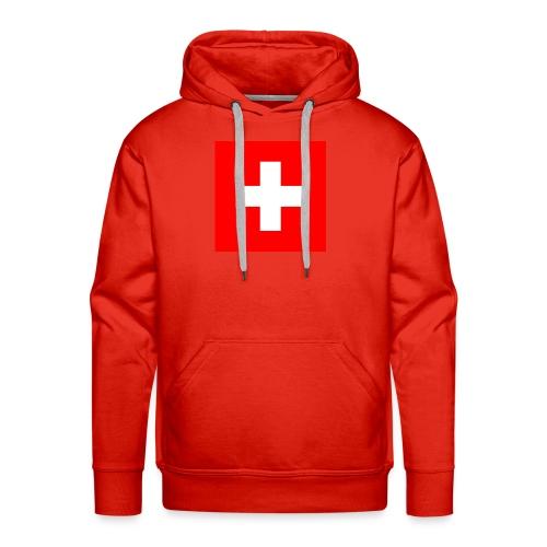 Swiss - Sweat-shirt à capuche Premium pour hommes