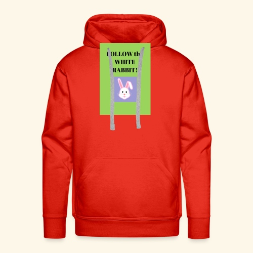 Follow the white rabbit Zeichnung - Männer Premium Hoodie