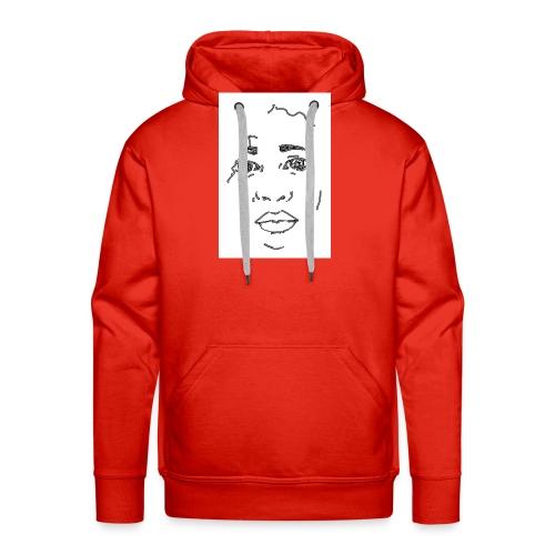 visage - Sweat-shirt à capuche Premium pour hommes