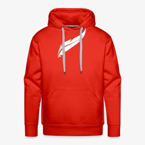 logo plume white - Sweat-shirt à capuche Premium pour hommes