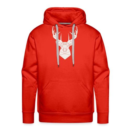 cervo - Felpa con cappuccio premium da uomo