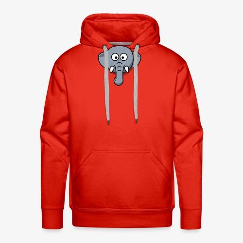 elephant - Felpa con cappuccio premium da uomo