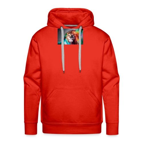 hero lion - Sweat-shirt à capuche Premium pour hommes