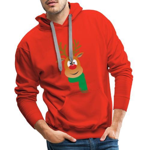 Reno bufanda verde - Sudadera con capucha premium para hombre