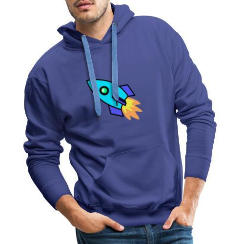 Blue rocket - Men's Premium Hoodie