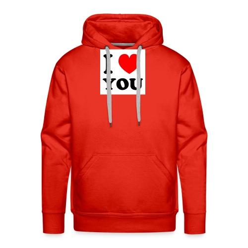 Sweater met i love you - Mannen Premium hoodie