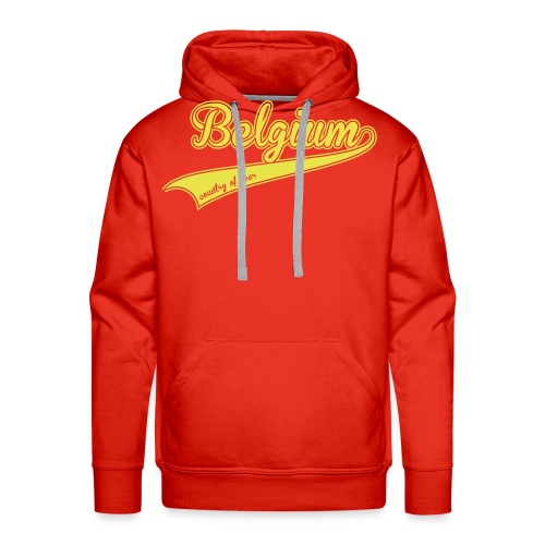 belgium country of beer - Sweat-shirt à capuche Premium pour hommes