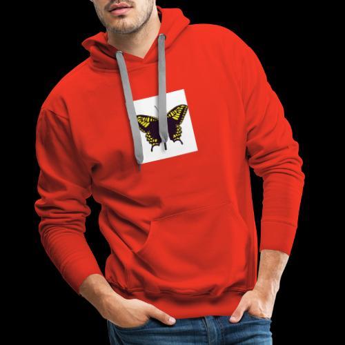 Black & Yellow Butterfly - Men's Premium Hoodie
