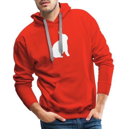 T-shirt personnalisable avec votre texte (lapin) - Sweat-shirt à capuche Premium pour hommes