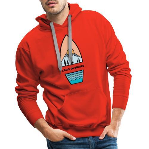 Illustrazione Lago di Braies - Felpa con cappuccio premium da uomo