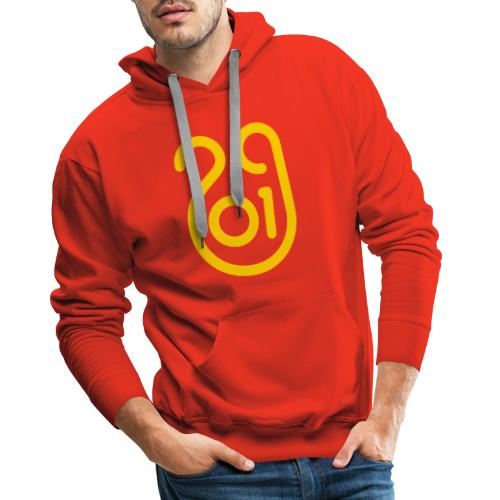 Annee du cochon jaune de terre - Sweat-shirt à capuche Premium pour hommes