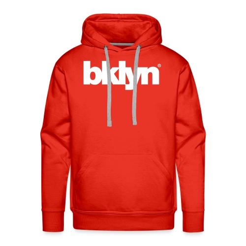 bklyn red / white - Men's Premium Hoodie