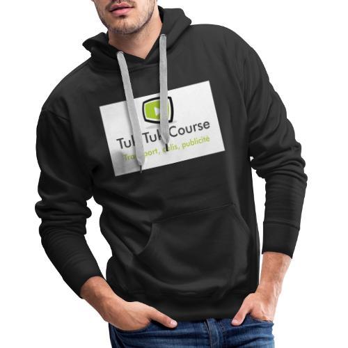 Logo tuk tuk course - Sweat-shirt à capuche Premium pour hommes