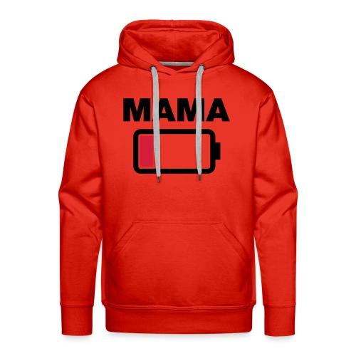 Batterij mama leeg - Mannen Premium hoodie