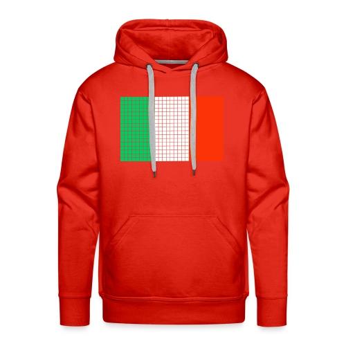 italian flag - Felpa con cappuccio premium da uomo