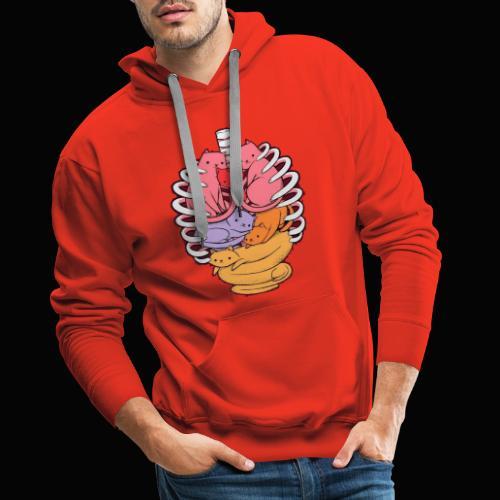 El cuerpo humano por dentro - Sudadera con capucha premium para hombre