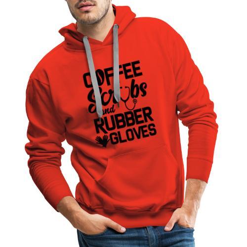 Coffee scrubs and rubber gloves - Men's Premium Hoodie