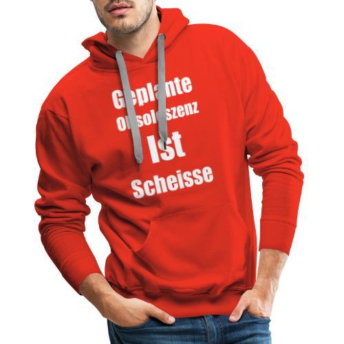 Obsoleszenz Weiss Schwarz - Männer Premium Hoodie
