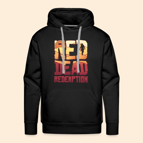 Red dead redemtion Sunset - Sudadera con capucha premium para hombre