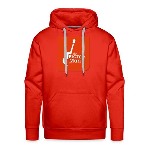 De Oranje Man Wilhelmus Hoekstra Logo Oranje Vlak - Mannen Premium hoodie